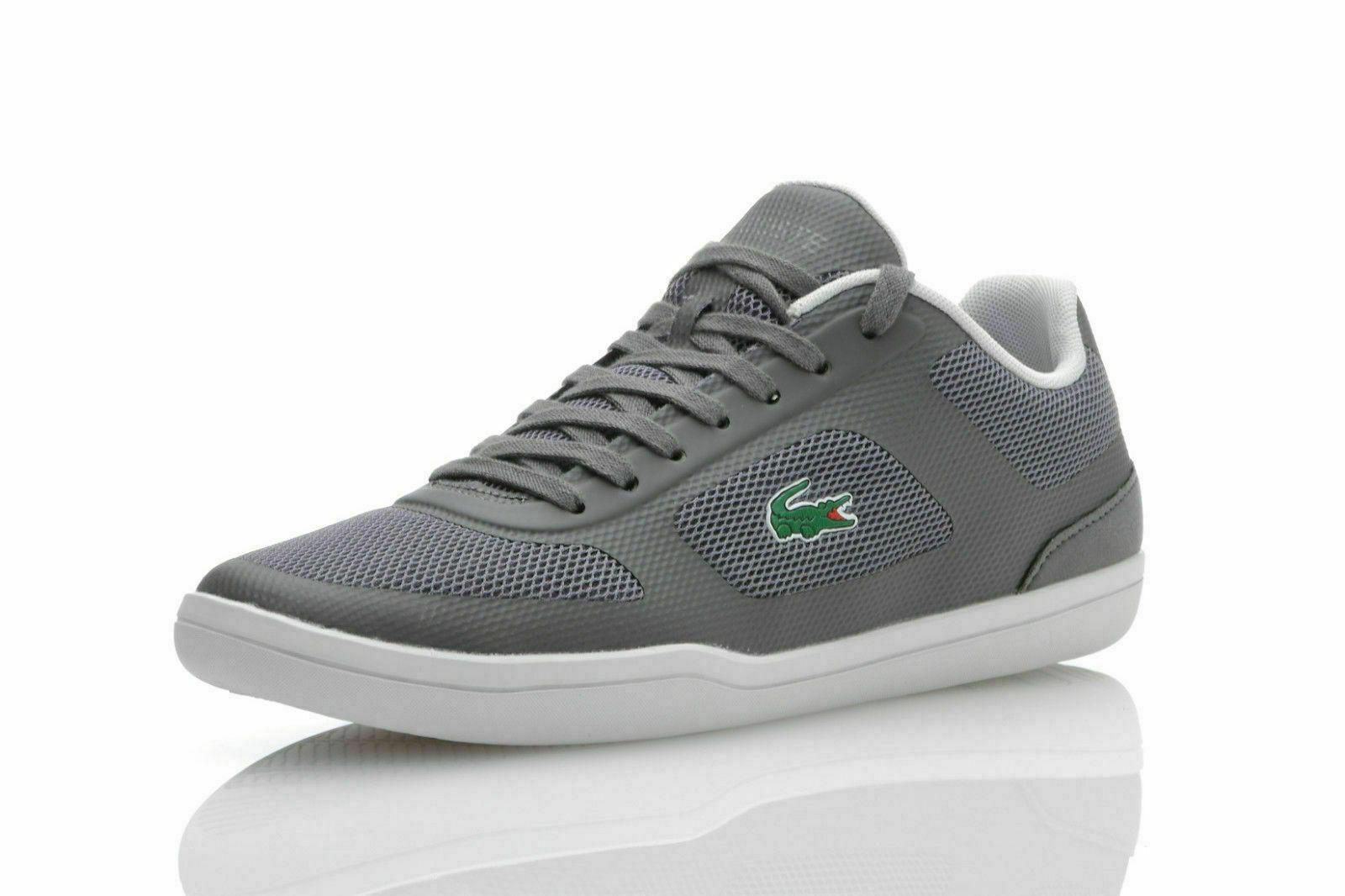 best sneakers 58bd8 dfd6c LACOSTE COURT MININMAL SPORT Herren Sneaker Schuhe Halbschuhe grau