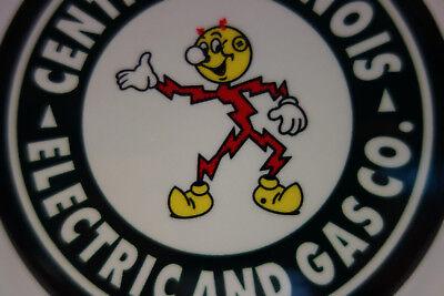 Central Illinois Electric /& Gas Reddy Kilowatt Plate Topper ELECTRICIAN GIFT