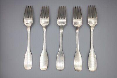 """Hans Hansen Susanne Sterling Silver Dinner Fork, Denmark – 7 1/8"""" – Set of 5 2"""