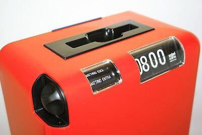 Vintage 1976 Fratelli Solari Udine Flap Clock Time Recorder New In Original Box 2