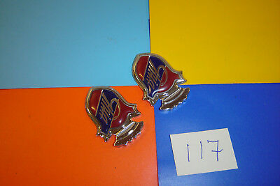Pair Genuine Ford Ghia Shield Badges. Capri Cortina Escort Fiesta Granada Ka.
