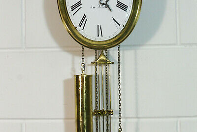 Comtoise Wall Clock Dutch Movement Vintage Old Clock 4