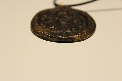 Post Medieval Beautiful Men's Bronze Large 38Mm Christian Orthodox Pendant 4