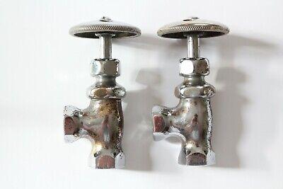 antique faucet shut off angle valve   standard wheel vtg victorian sink deco 2