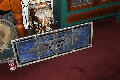 Antique Religious Church Stained Glass Window-Dedicated-Architectural Window 5