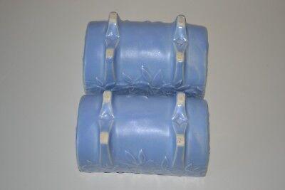 "Vintage McCoy Pottery Butterfly Blue Planter  Matte Blue 5 1/2"" 1930s 6"
