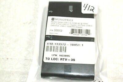 Monoprice Mobile Series USB-C to HDMI 4K@30Hz, VGA, 2-Port USB 3.0 @AN2 3
