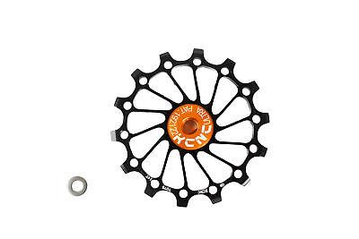 KCNC Road MTB Bicycle Bike Oversized Derailleur Pulley Sealed Bearing 14T Black
