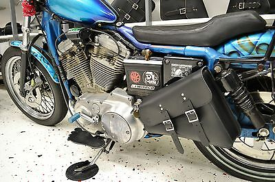 1 Of 9free Shipping Harley Sportster Left Side Leather Solo Bag Saddlebag Sl01 Bad G Customs