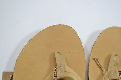 527461284 ... Reef CHILL LEATHER Tan Brown Premium Leather Discount Sandals Women s Flip  Flops 3
