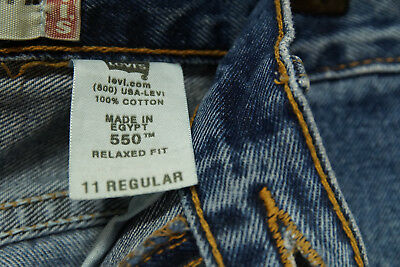 LEVI'S 550 Blue Jeans Kids' 11 Regular Relaxed Fit W25 L25 Levis Red Tab Denim 6