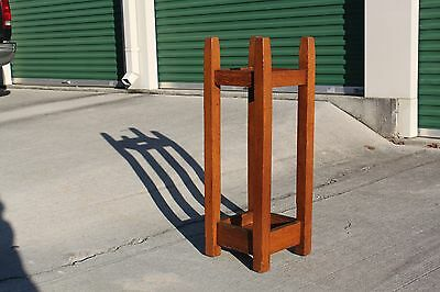 Gustav Stickley No. 54 Mission Oak Arts & Crafts Umbrella Stand 4