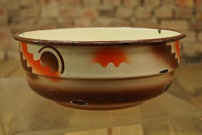Vintage Esmaltada Tazón de Fuente Cuenco Frutero Cuenco Decorativo Esmalte 50er 5