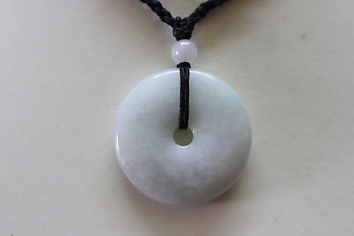 Genuine Natural Jadeite (Grade A) Untreated JADE Circle Donut Pendant #P1099 4
