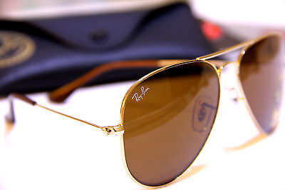 3 of 6 Geunine Ray Ban Aviator RB3025 001 51 all size Gold Frame Brown  Gradient Unisex e9d76e2fd1