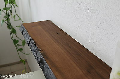 wandboard nussbaum massiv holz board regal steckboard regalbrett baumkante neu eur 160 00. Black Bedroom Furniture Sets. Home Design Ideas