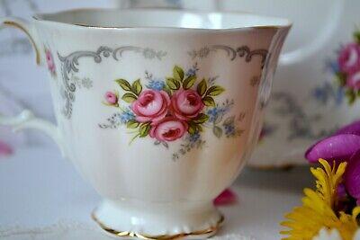 Vintage Royal Albert England TRANQUILITY Tea Cup Teacup Saucer Set, bone china 6