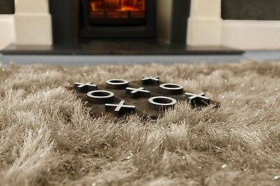 Modern Large Extra Thick 9cm High Pile SHAGGY Floor RUG with SPARKLE SHIMMER 5