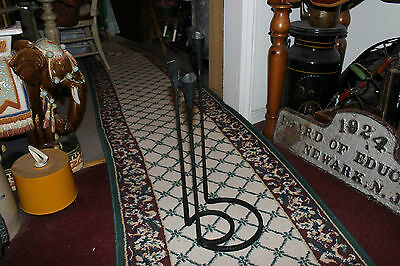 Interesting Gothic Medieval Floor Standing Candelabra-Iron Steel-Holds 3 Candles 4