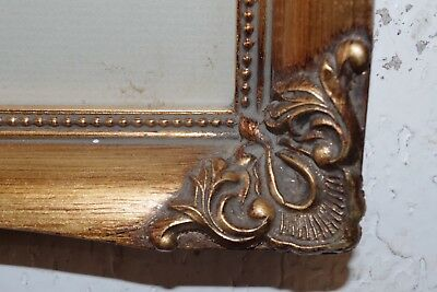 Vintage Gold Gilt Ornate Wood Picture Frame & Print ( Photo Painting ) 8