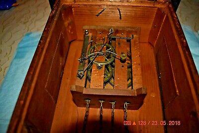 ANTIQUE CUCKOO clock WALL CLOCK WOODEN PLATES CLOCK BEHA??? for parts 8