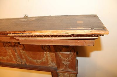 18th Century Adams Fireplace Mantel Carved Wood Basket, Urns, Floral Swags Etc. 8