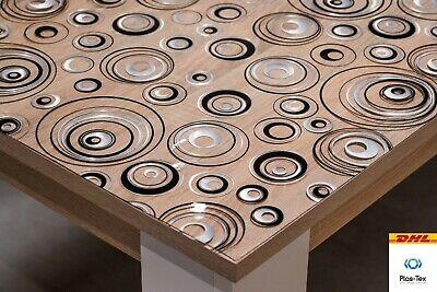 Tischfolie Tischdecke Schutzfolie Mit Muster 2mm Transparent 14