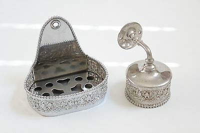 antique soap holder tumbler cup | silver & co soap bathroom vtg deco victorian 2