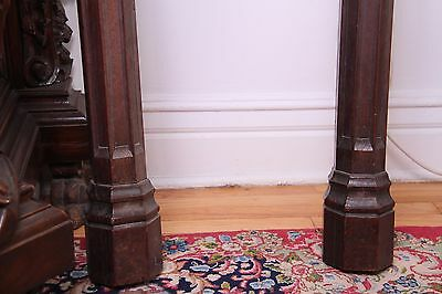 19C French Carved Oak Gothic Columns 9