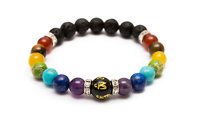 7 Chakra Bracelet. Crystal Stones. Healing Beads Jewellery. Mala Reiki anxiety 8