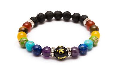 7 Chakra Crystal Stones Bracelet. Healing Beads Jewellery. Mala Reiki anxiety 6