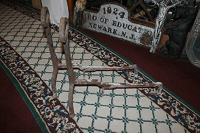 Antique Cast Iron Andirons W/Celtic Shape-Pair-Fireplace Inserts-Architectural 2