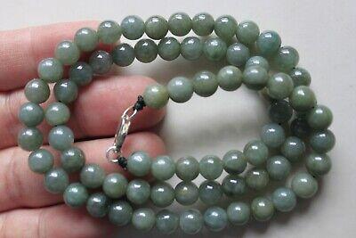 "Genuine 100% Natural Jadeite ""Grade A"" Beautiful Oily Green JADE Necklace #N291 9"