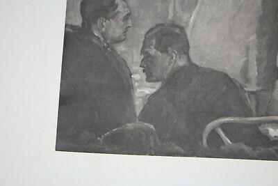 Seltene Litographie, Med Uni Wien, Autopsie Lehrsaal, um 1930 9