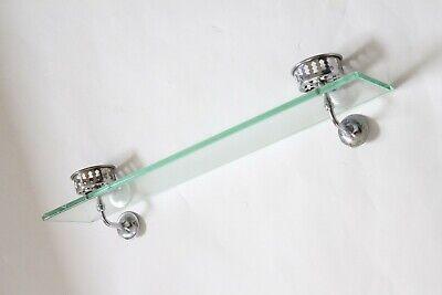 antique bathroom glass shelf double cup holder | hoegger deco vtg tumbler holder 8