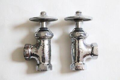 antique faucet wheel shut off angle valve | republic deco vtg victorian plumbing 10