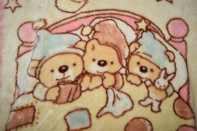 Vintage Three Bears Baby Bunting Blanket with Zips and Snaps 2