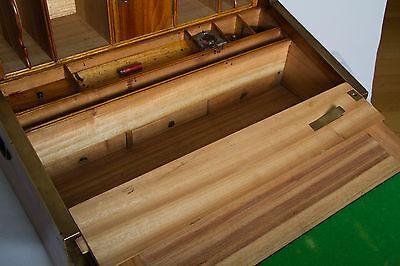 Rare & Unique Campaign Desk In Exotic Timbers With Secret Compartments.