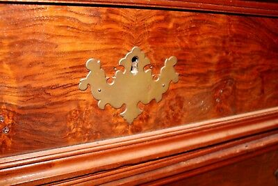 Antique American Victorian Eastlake Walnut & Rose Marble-Top Dresser 9