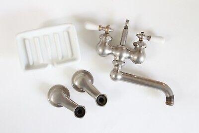 antique faucet kitchen sink | chicago vtg mixing faucet victorian plumbing deco 8