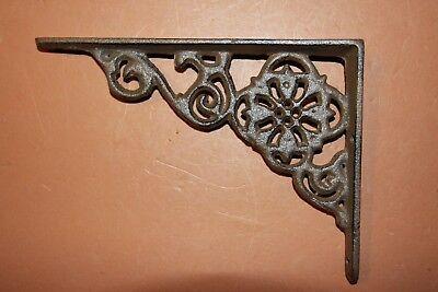 Old-Fashioned Padlock Decor, Vintage-Style Small Shelf Brackets, Solid Cast Iron 3