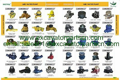 4JA1 4JB1 4JG1 4JG2 Water Pump FITS FOR  Bobcat Mustang Hitachi Machinery Isuzu 11