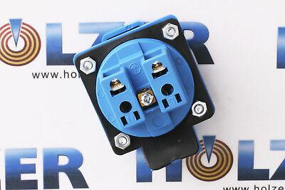 Neu, IP44 Schuko 230/250V 16A Einbausteckdose Steckdose Anbausteckdose Blau