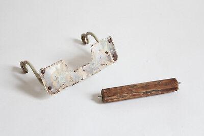 antique toilet paper holder towel post ends | vtg deco cigar rest victorian bath 8