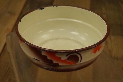 Vintage Esmaltada Tazón de Fuente Cuenco Frutero Cuenco Decorativo Esmalte 50er 2