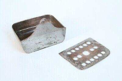 antique bathroom sponge soap holder | jl mott iron vtg bath victorian kitchen 4