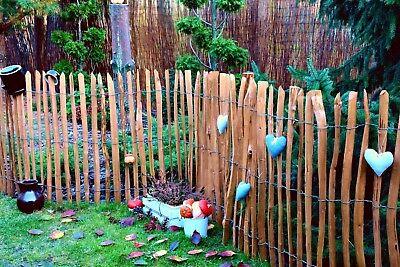 Staketenzaun Holzzaun Kastanienzaun Gartenzaun Zaunlatte imprägniert 50 90 120cm 3