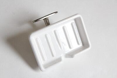 antique wall soap holder dish tray   kitchen soap vtg self draining soap vtg 3
