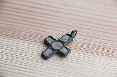 Fantastic Viking Kievan Rus Pendant Cross with with rectangular ends 10-11 AD 8