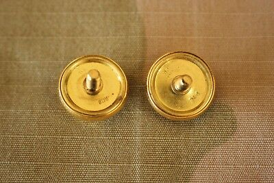 Usmc Marine Corps Gold Button Set For Enlisted Or Officer Combination Cap Strap